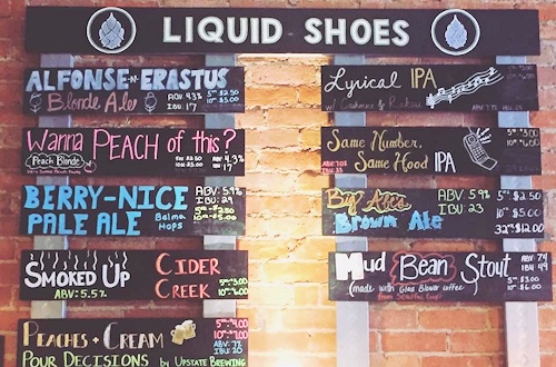 Liquid Shoes Menu