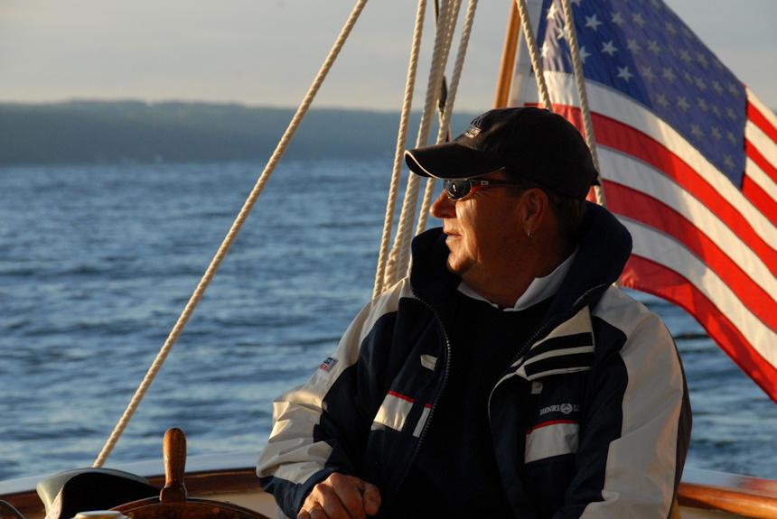 Captain Steering Schooner