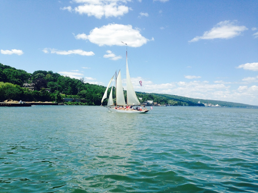 Schooner Sailing on Nice Day